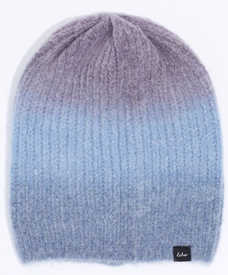 Echo Purple/Blues Ombre Beanie