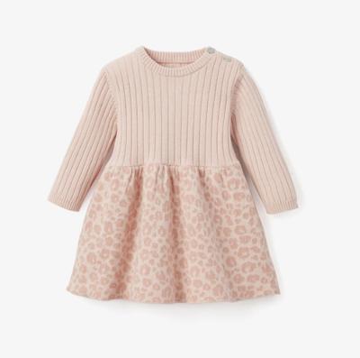Elegant Baby Leopard Dress Pink