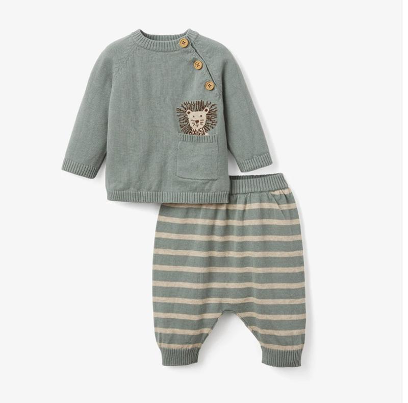Elegant Baby Lion Pant Set