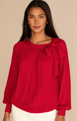 Trina Cabachon Sweater - Red