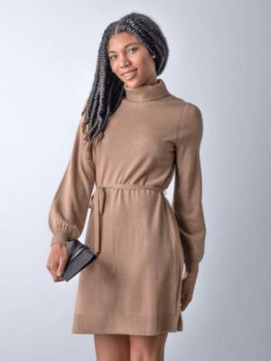Margaret Cora Dress Camel