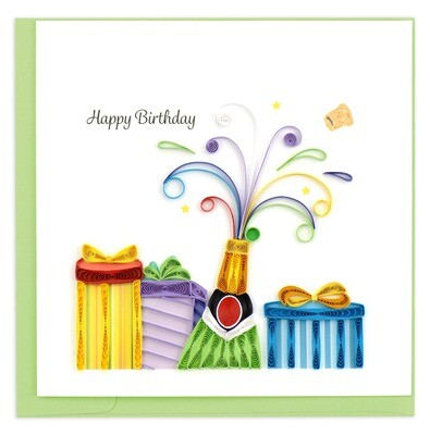 Quilling Cards - Birthday Champagne
