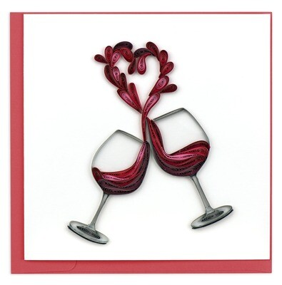 Quilling Cards - wine heart