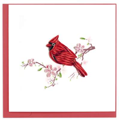 Quilling Cards - cardinal