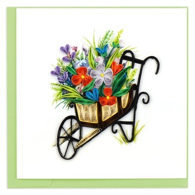 Quilling Cards - Wheelbarrow Garden