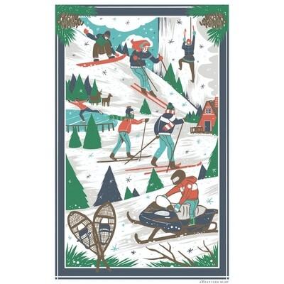 Winter Scenes Towel