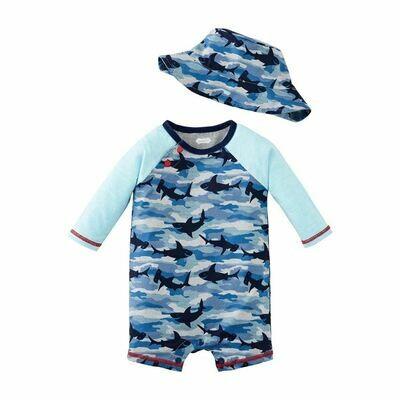 Shark Camo Rashguard & Hat Set