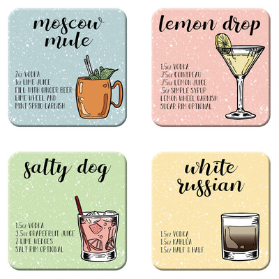 Vodka Cocktail Coasters