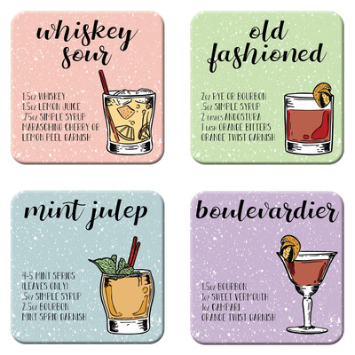 Whiskey Cocktail Coasters