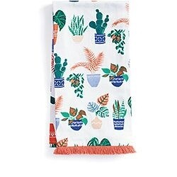 Potted Plants Tea Towel