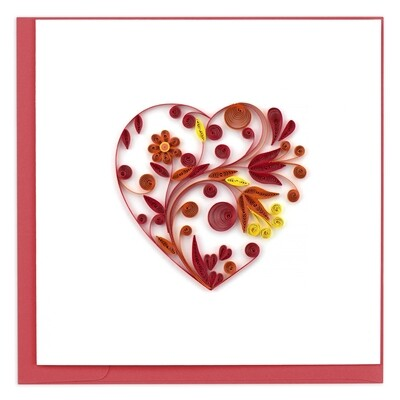 Quilling Cards - heart