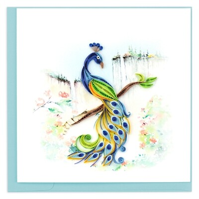 Quilling Cards - Peacock