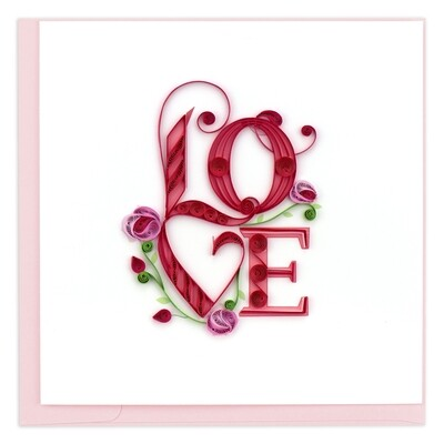 Quilling Cards - Love