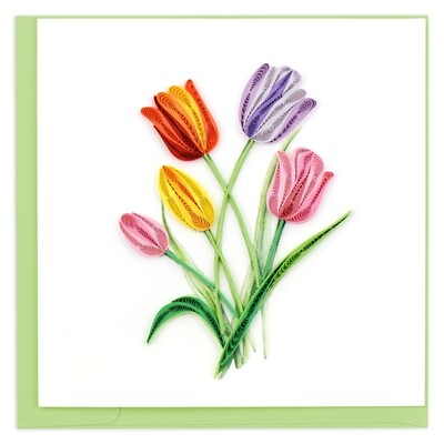 Quilling Cards - Tulips