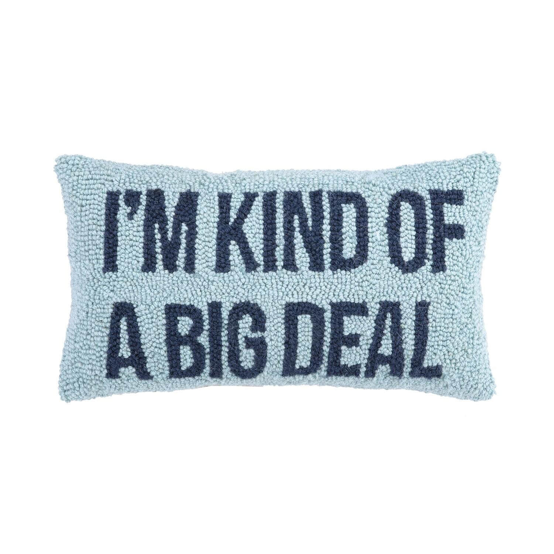 Big Deal Pillow Blue