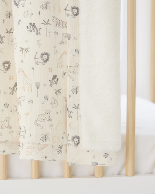 Jungle Print Fur Baby Blanket