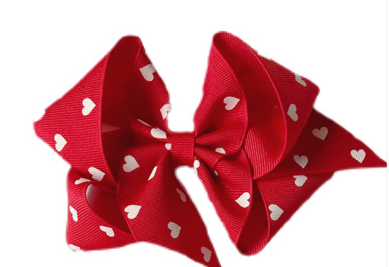 Red Hearts Bows