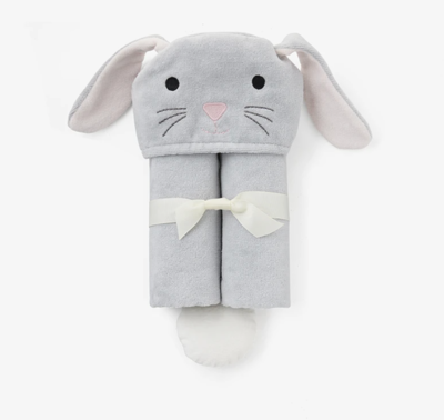 EB Grey Bunny Bath Wrap