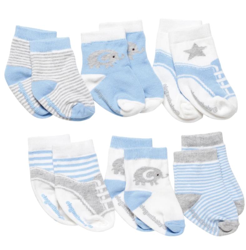 Blue Baby Socks - 6 PK