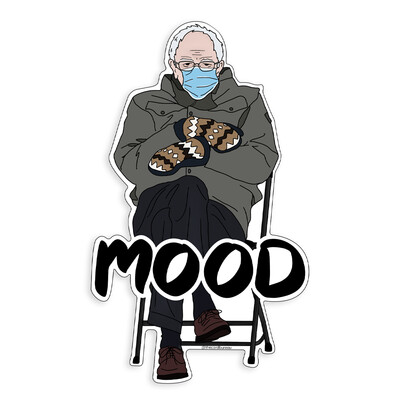 Bernie Sanders Mittens Meme Sticker