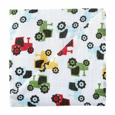 Tractor Muslin Swaddle