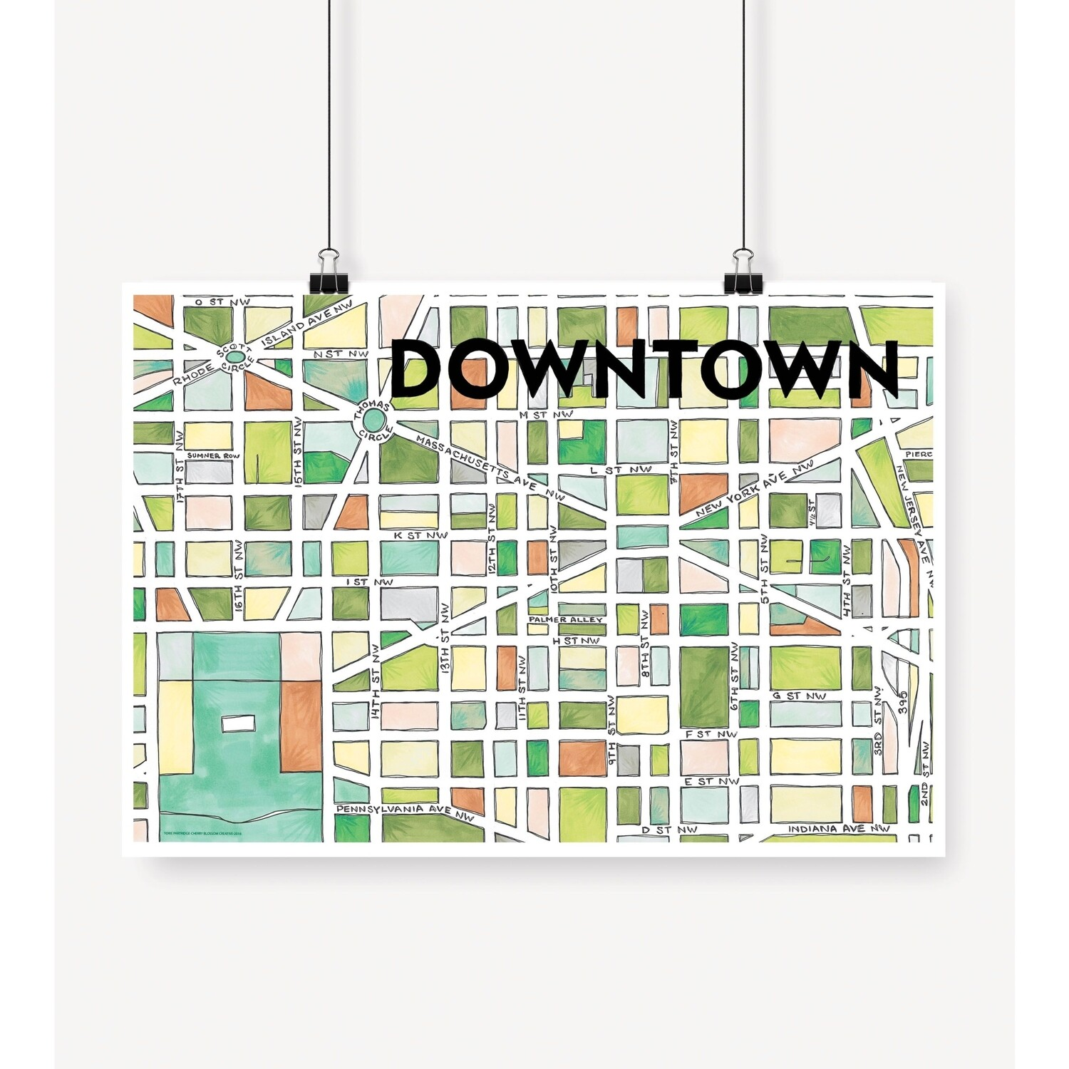 Downtown DC Map Print
