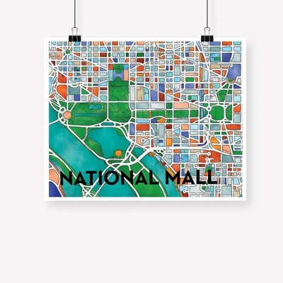 National Mall Map Print