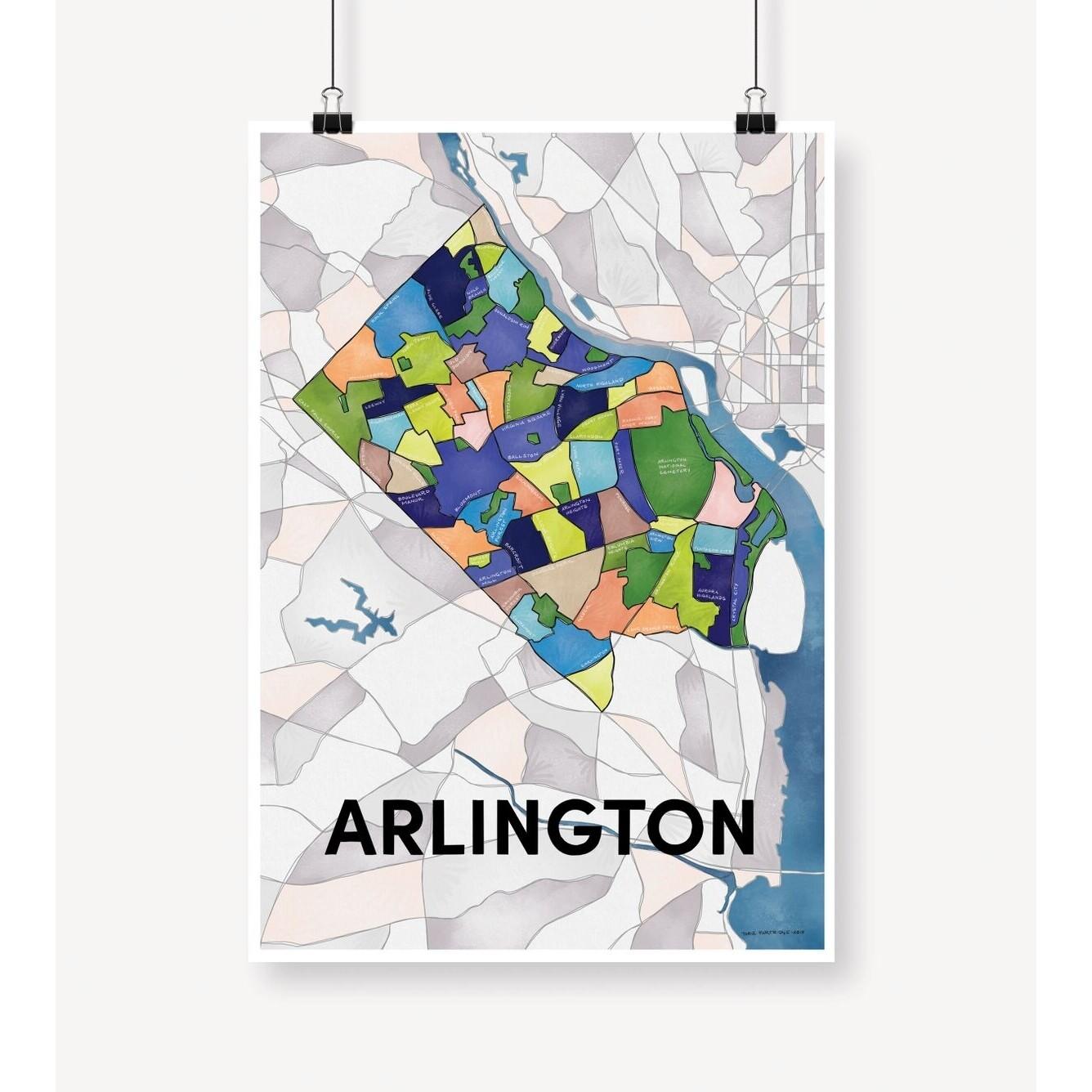 Arlington Neighborhood Map Print