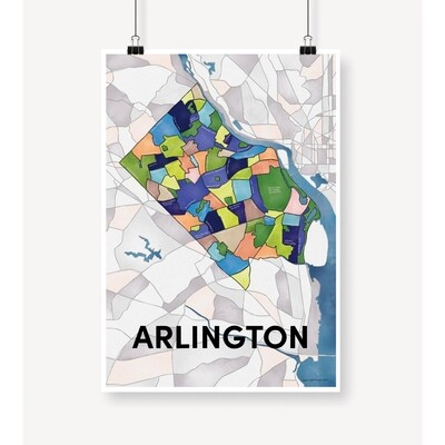 Arlington Neighborhood Map Print