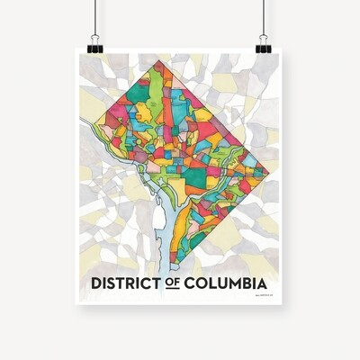 DC Map Print
