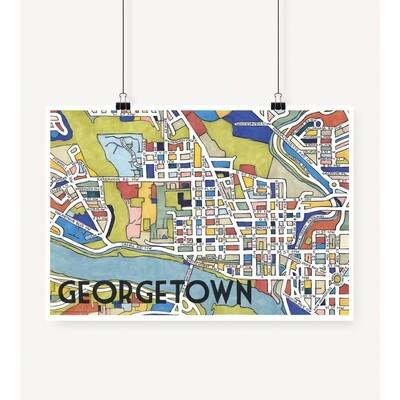 Georgetown Map Print