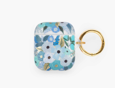 Rifle Paper Clear Garden Party Blue AirPod Case