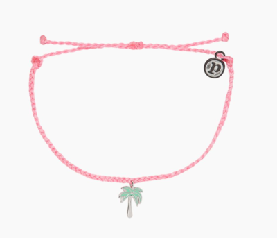 Pura Vida Paradis Palms Charm Bracelet Pink