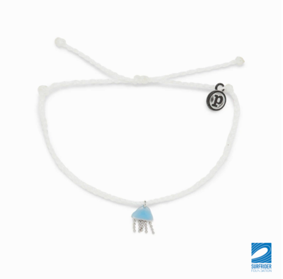 Pura Vida Jellyfish Charm Bracelet White