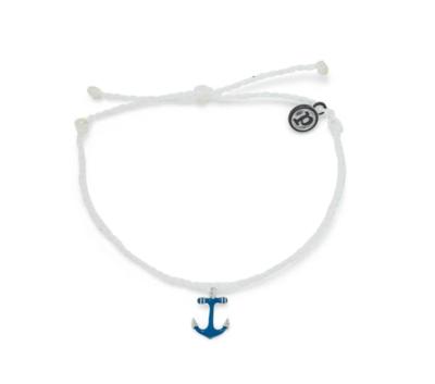 Pura Vida Anchor Charm Bracelet White