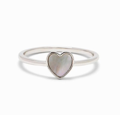 Pura Vida Heart of Pearl Ring - Silver