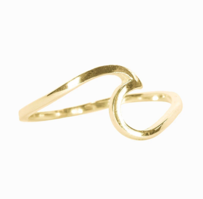 Pura Vida Wave Ring - Gold