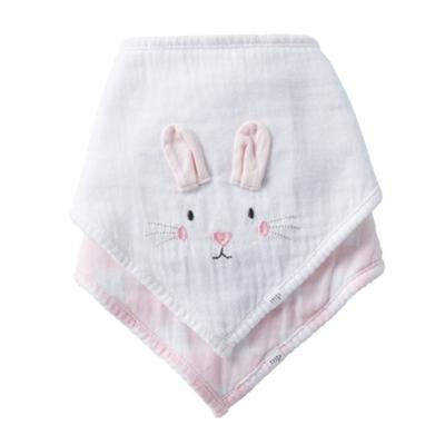 Pink Bunny Gingham Bib