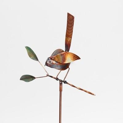 Bird on Branch Garden Stake