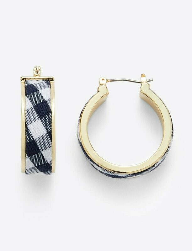 Draper James Navy Gingham Hoop