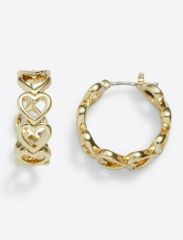Draper James Heart Hoops