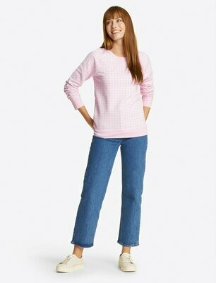 Draper James Pink Gingham Sweatshirt