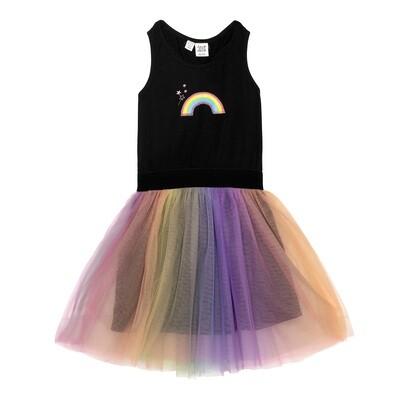 Deux Par Deux Rainbow Mesh Dress