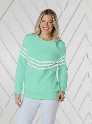 Sail to Sable Cabbage White Stripe Sweatshirt