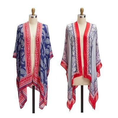 Red, White & Blue Kimono