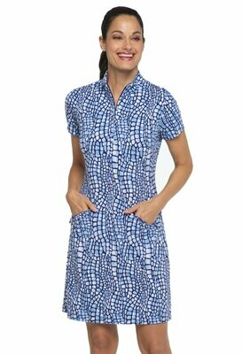 Ibkul Carie S/S Mock Dress Denim