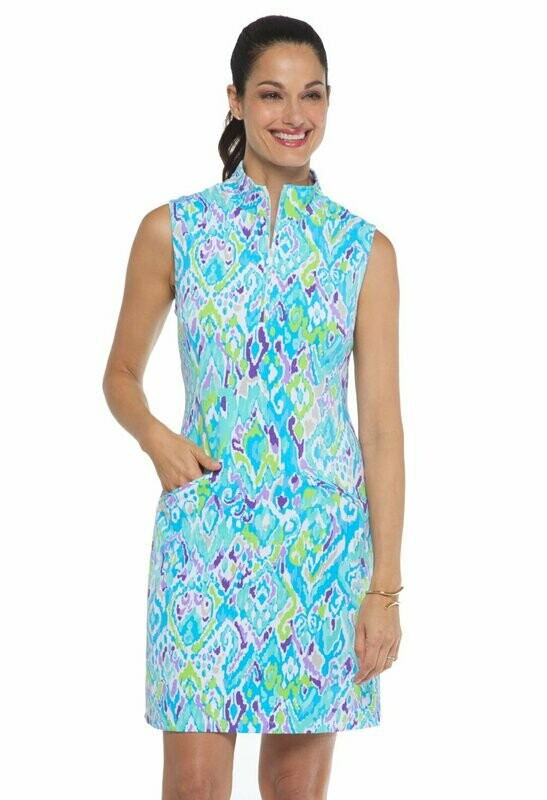 Ibkul Tillie Sleeveless Mock Dress