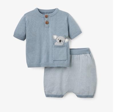 Blue Koala Short Set