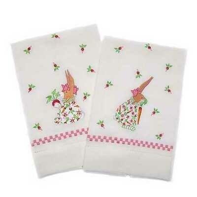 Mackenzie PB Rabbit Carrot Tea Towel