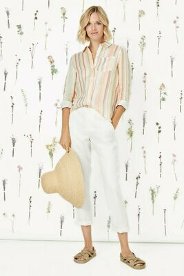 Ecru Streep Easy Shirt - Watercolor Stripe